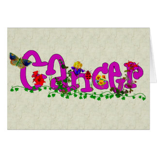 Cancer Flowers Stationery Note Card