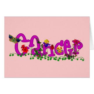 Cancer Flowers Card