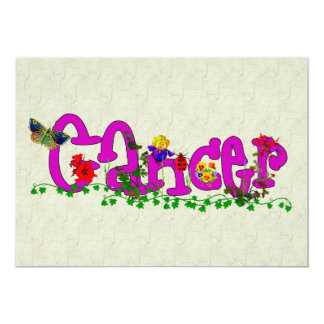 "Cancer Flowers 5"" X 7"" Invitation Card"