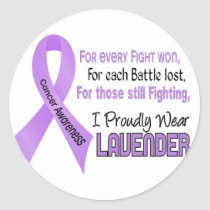 Cancer For Every…..I Proudly Wear Lavender 1 Classic Round Sticker