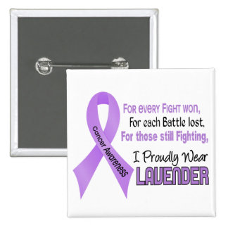 Cancer For Every…..I Proudly Wear Lavender 1 Pinback Button