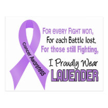 Cancer For Every…..I Proudly Wear Lavender 1 Postcard