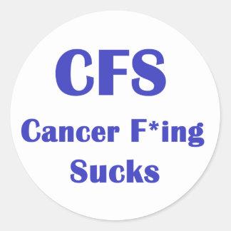 Cancer Freaking Sucks - CFS Classic Round Sticker