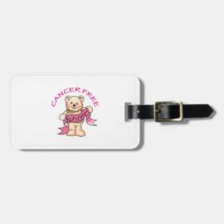 CANCER FREE BEAR TAGS FOR LUGGAGE