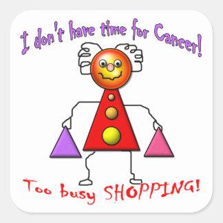Cancer Free Shopper Square Sticker