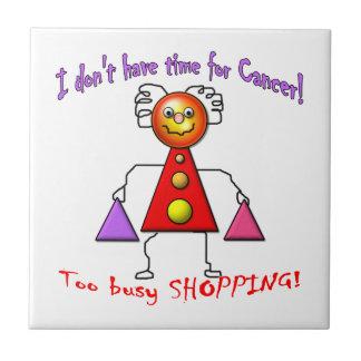Cancer Free Shopper Ceramic Tile