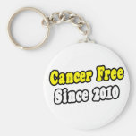 Cancer Free Since 2010 Keychain
