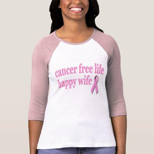 cancer free wife tshirts
