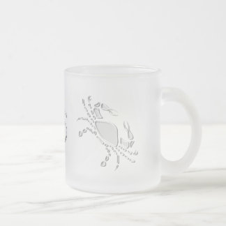 Cancer Frosted Glass Coffee Mug