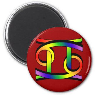 Cancer & Gemini GLBT 2 Inch Round Magnet
