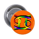 Cancer & Gemini GLBT Pin