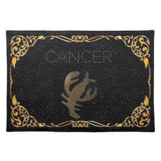 Cancer golden sign cloth placemat