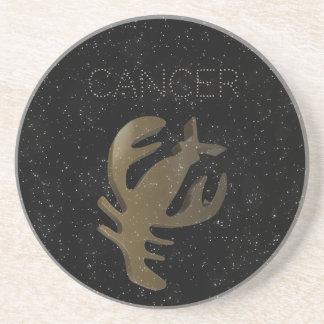 Cancer golden sign coaster