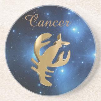 Cancer golden sign drink coaster