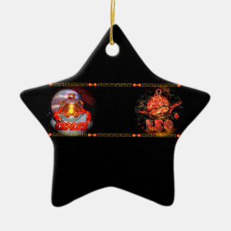 Cáncer gótico Leo del zodiaco por Valxart com Adorno De Navidad