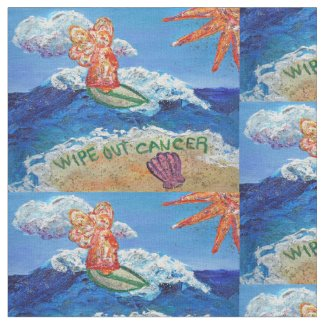 Cancer Guardian Angel Art Fabric Material