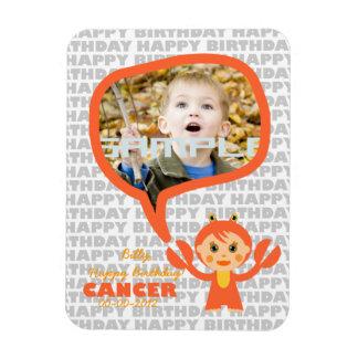 Cancer Happy Birthday Keepsake for kids Magnet