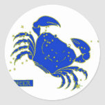 Cancer Horoscope Classic Round Sticker