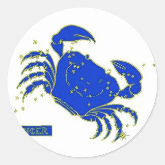 Cancer Horoscope Round Stickers