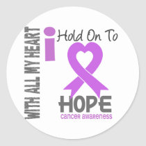 Cancer I Hold On To Hope Classic Round Sticker