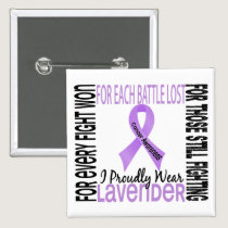 Cancer I Proudly Wear Lavender 2 Button