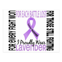 Cancer I Proudly Wear Lavender 2 Postcard