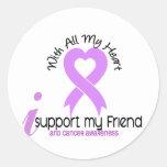 CANCER I Support My Friend Round Sticker