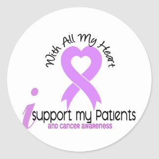 CANCER I Support My Patients Classic Round Sticker