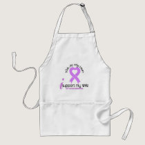 CANCER I Support My Wife Adult Apron