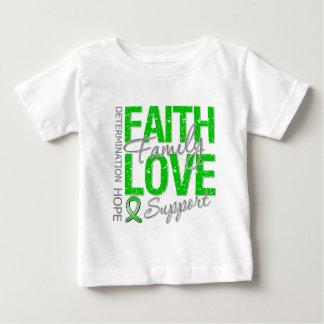 Cáncer inspirador del riñón del collage del lema t-shirt