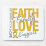 Cancer Inspiring Slogan Collage Appendix Cancer Mouse Pad