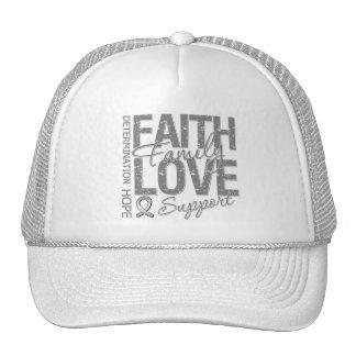 Cancer Inspiring Slogan Collage Brain Cancer Mesh Hat