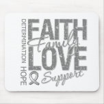 Cancer Inspiring Slogan Collage Brain Cancer Mouse Pad