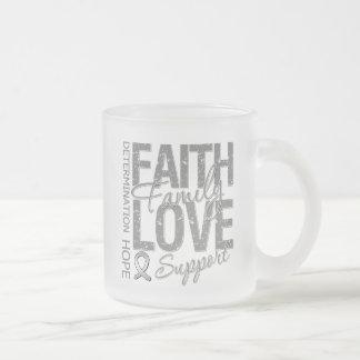 Cancer Inspiring Slogan Collage Brain Cancer Coffee Mug