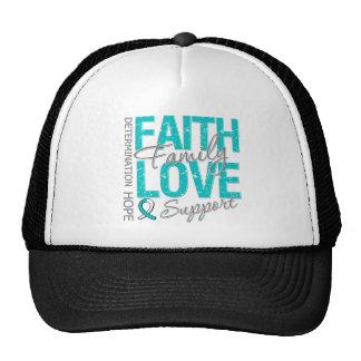 Cancer Inspiring Slogan Collage Cervical Cancer Trucker Hat