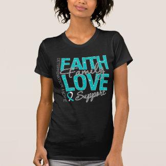 Cancer Inspiring Slogan Collage Cervical Cancer Tee Shirts