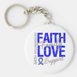 Cancer Inspiring Slogan Collage Colon Cancer Key Chains