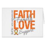Cancer Inspiring Slogan Collage Leukemia Card