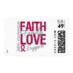 Cancer Inspiring Slogan Collage Multiple Myeloma Stamp