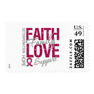 Cancer Inspiring Slogan Collage Multiple Myeloma Stamp