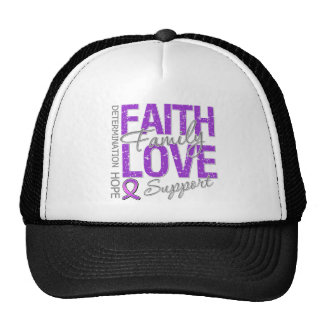 Cancer Inspiring Slogan Collage Pancreatic Cancer Trucker Hats