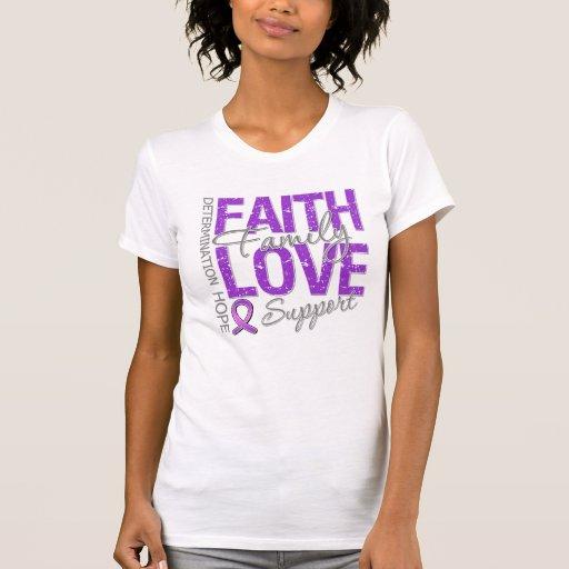 Cancer Inspiring Slogan Collage Pancreatic Cancer Shirt