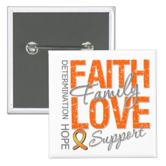 Cancer Inspiring Slogan Collage v2 Kidney Cancer Pinback Buttons