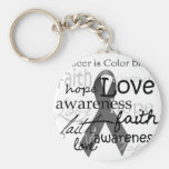 Cancer is Color BLind Basic Round Button Keychain
