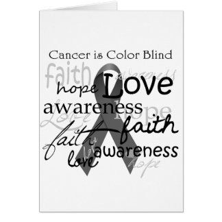 Cancer is Color BLind Card