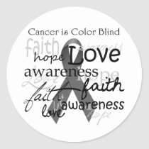 Cancer is Color BLind Classic Round Sticker