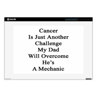 """Cancer Is Just Another Challenge My Dad Will Overc Decals For 15"""" Laptops"""