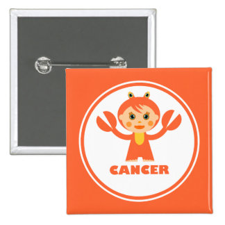Cancer is my zodiac sign pinback buttons