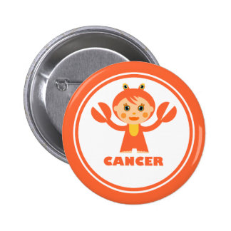 Cancer is my zodiac sign pinback button