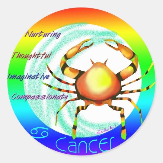 CANCER: June - July Classic Round Sticker